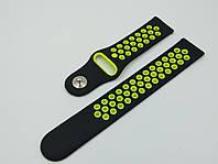 Ремешок Sport Nike Style для Xiaomi AMAZFIT Bip / 20 мм Black / Yellow (Черный / Желтый)