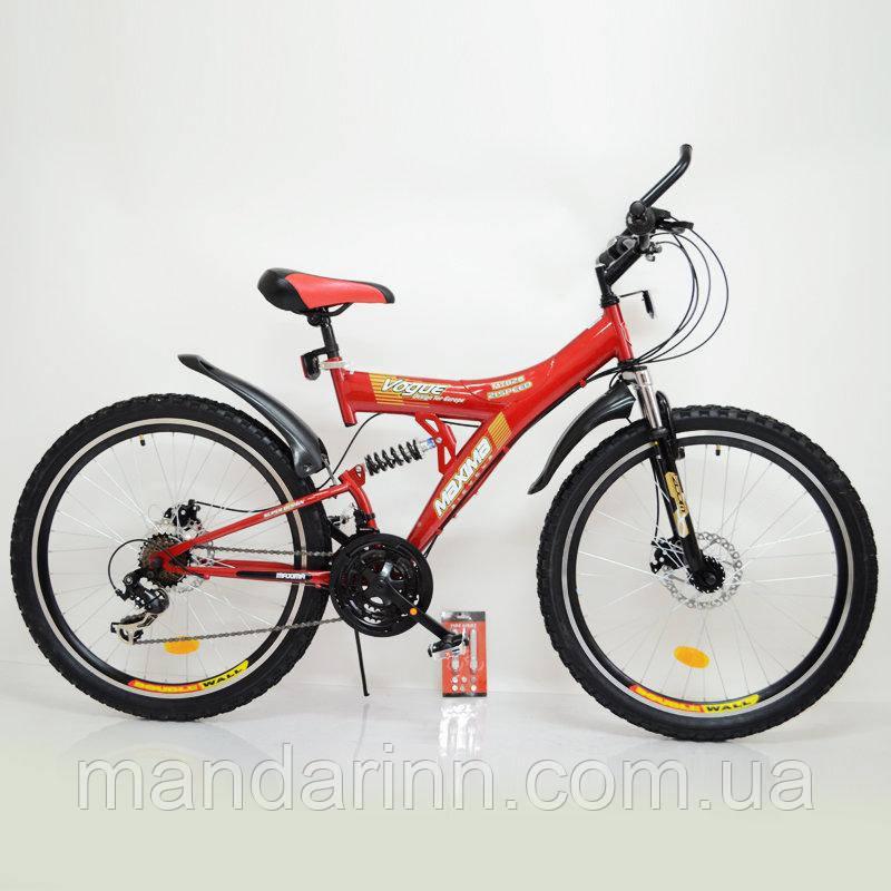 Спортивный велосипед MAXIMA T26-726  26 дюймов. Дисковые тормоза. Красный