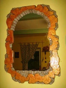Зеркало в декоративном камне