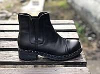 Ботинки челси № 409-3 черный замш (брук+гвозди)