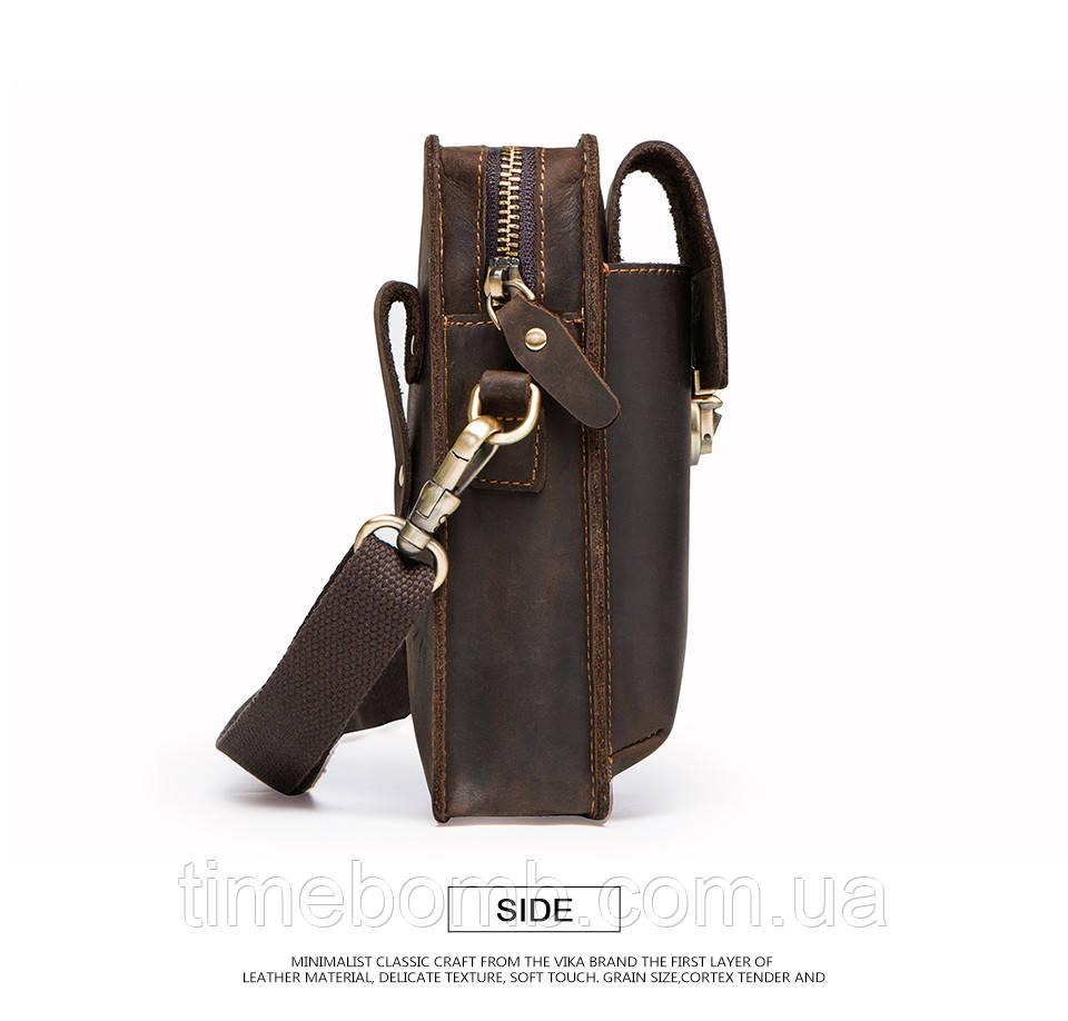 3cb1bfa24cb1 Мужская кожаная сумка на плечо или пояс Contacts: продажа, цена в ...