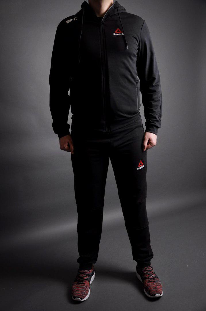 23164162 Спортивный костюм в стиле Reebok (Рибок)-Черный - BIGSPORT-место выгодных  покупок