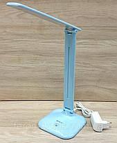 Настільна LED-лампа Feron DE1725 30LED 9W 6400K, блакитна, фото 3