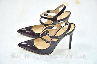 Туфли лодочки с открытой пяткой
