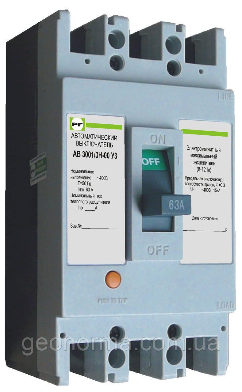 Автоматические выключатели АВ30006/3Н, АВ30006/3Б Промфактор, фото 1