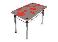 Скляний стіл Лілія, фото 1