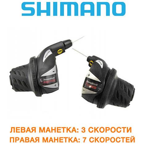 Манетки (переключатель) Shimano (шимано) SL-RS36 RevoShift 3х7 (SL-RS36-21), фото 2