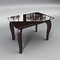 Стеклянный стол Император мини (журнальный) коричневый, фото 1