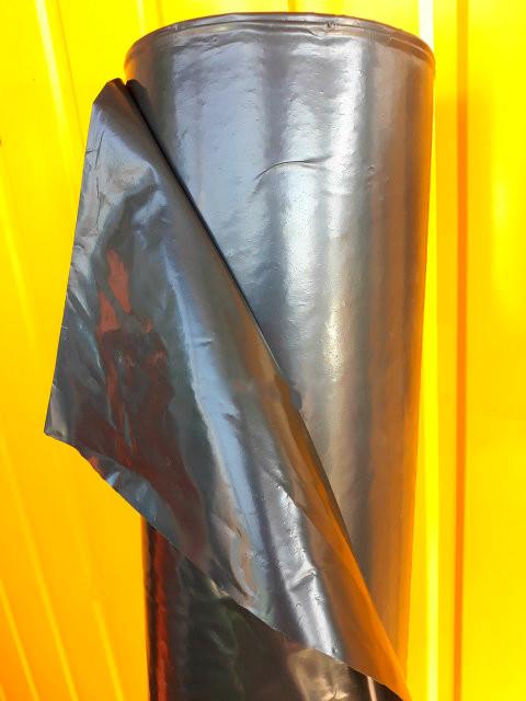 Пленка черная, 120мкм 3м/100м. полиэтиленовая (для мульчирования, строительная).