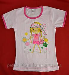 Детская футболка для девочки с рисунком розовая (Oztas, Турция)