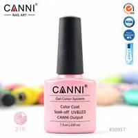 Гель-лак CANNI 216 мелкие розово-голографические блестки