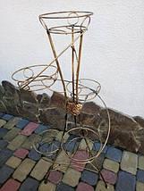 "Подставка кованая для цветов ""Спираль"" на 5 вазонов , фото 3"