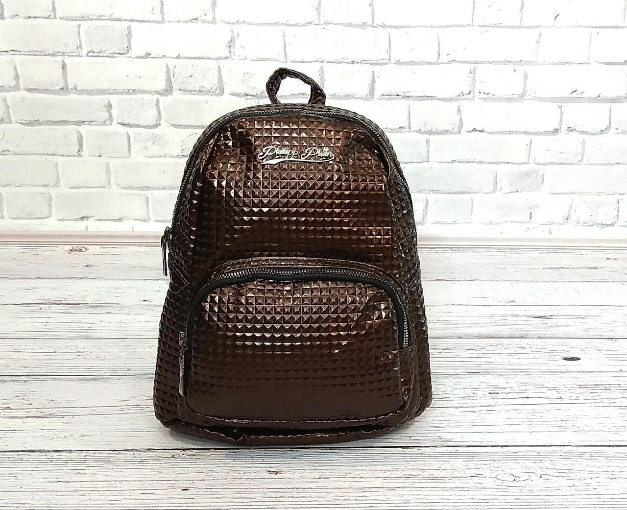 8a33a4a25aa5 Женский рюкзак в стиле Philipp Plein коричневый - PoliMAG в Киеве
