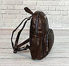 Женский рюкзак в стиле Philipp Plein коричневый, фото 3
