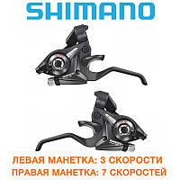 Манетки моноблоки (переключатель) Shimano (шимано) ST-EF51 Altus 3х7