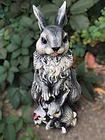 Садовая фигура Зайцы 40 см