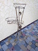 "Подставка кованая для цветов ""Спираль"" на 5 вазонов , фото 2"