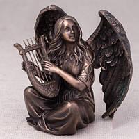"""Бронзовые статуэтки Veronese """"Ангел с арфой"""" 17*18 см. фирменные сувениры"""