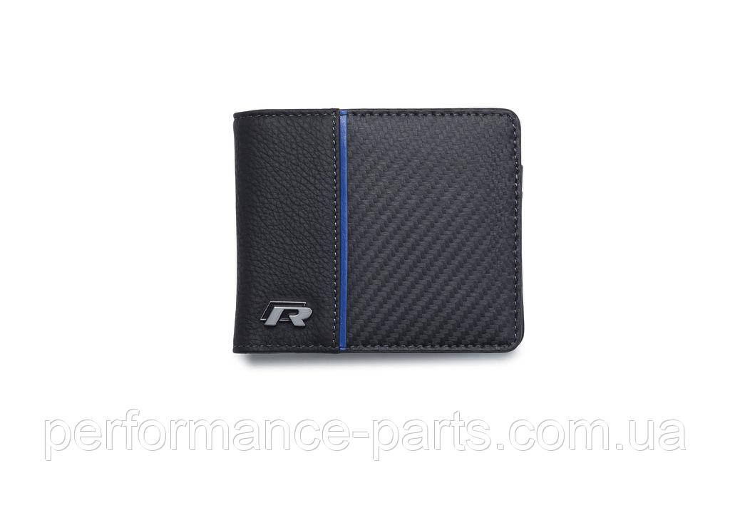 Кожаный кошелек Volkswagen R Collection Wallet, Black 15D087400