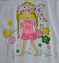 Комплект белья для девочки (майка+трусы) с принтом Девочка (Oztas, Турция), фото 4