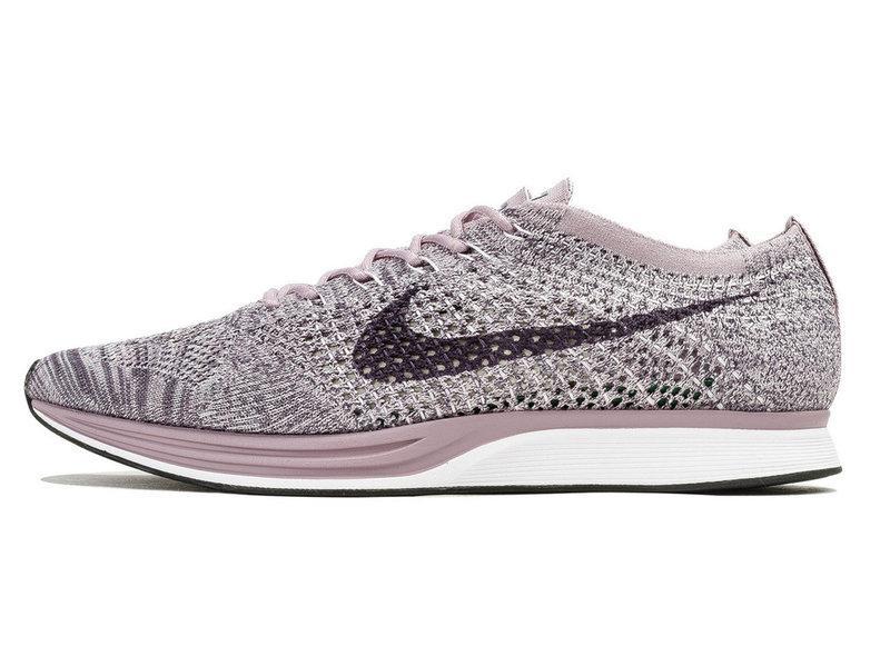 def14739 Женские кроссовки Nike Flyknit Racer Light Violet & Dark Grey