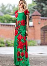 Женское платье в пол с принтом роз (1784-1783-1782-1785 svt), фото 3