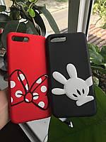Чехол силиконовый лапка Микки Мауса для iPhone 7 Plus