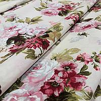 Ткань для штор Eliana Букет цветов фон молочный (588841)