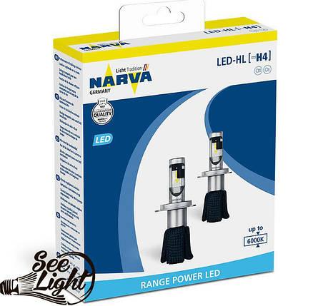 Led авто лампа Narva, цоколь H7 (PX26d), 180053000, 16W,  6000K, комплект, фото 2