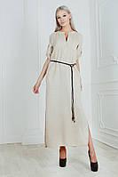 Платье свободного кроя / лён / Украина 19-9080-1, фото 1