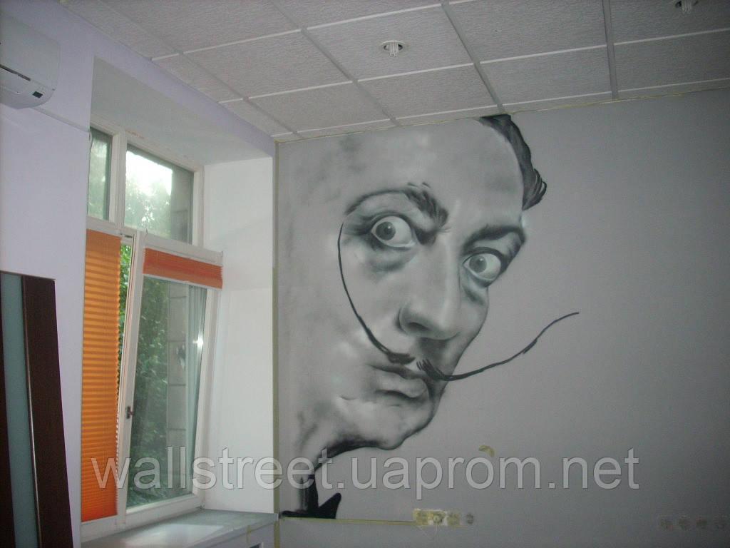 Художественная роспись стен в офисе