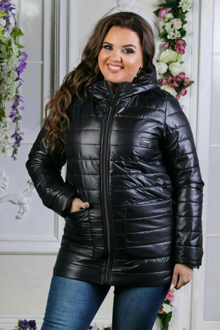 Женская куртка на синтепоне с капишоном,  48-50,52-54,56-58