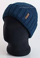 Мужская шапка с отворотом Oskar синего цвета