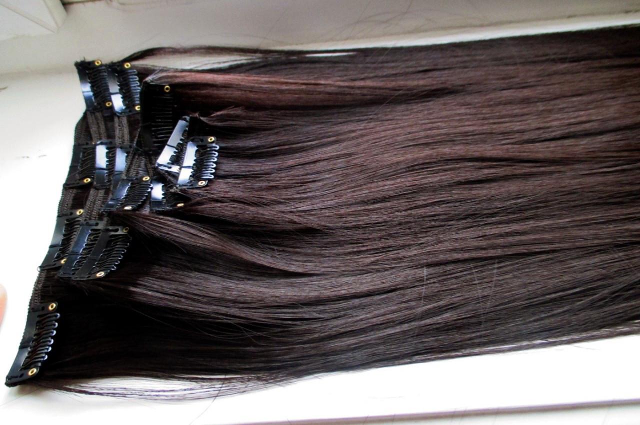 Волосы на заколках искусственные как натуральные  длина 65см №2