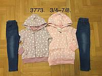 Трикотажный костюм 2 в 1 для девочек оптом, F&D, 3/4-7/8 лет,  № 3773, фото 1