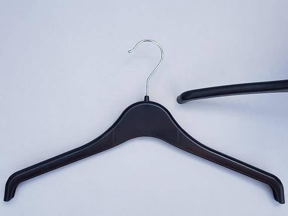 Плечики  вешалки  тремпеля V-U40  черного цвета, длина 40 см, фото 2