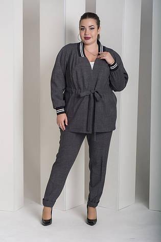 2cb80b60275 Серый брючный костюм больших размеров Вог  1 400 грн. Купить в ...