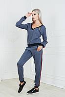 Женский костюм с лампасами / трикотаж / Украина 19-9230, фото 1