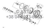 Карданный вал привода и планетарный редуктор передач (II) опция на YTO-X1104
