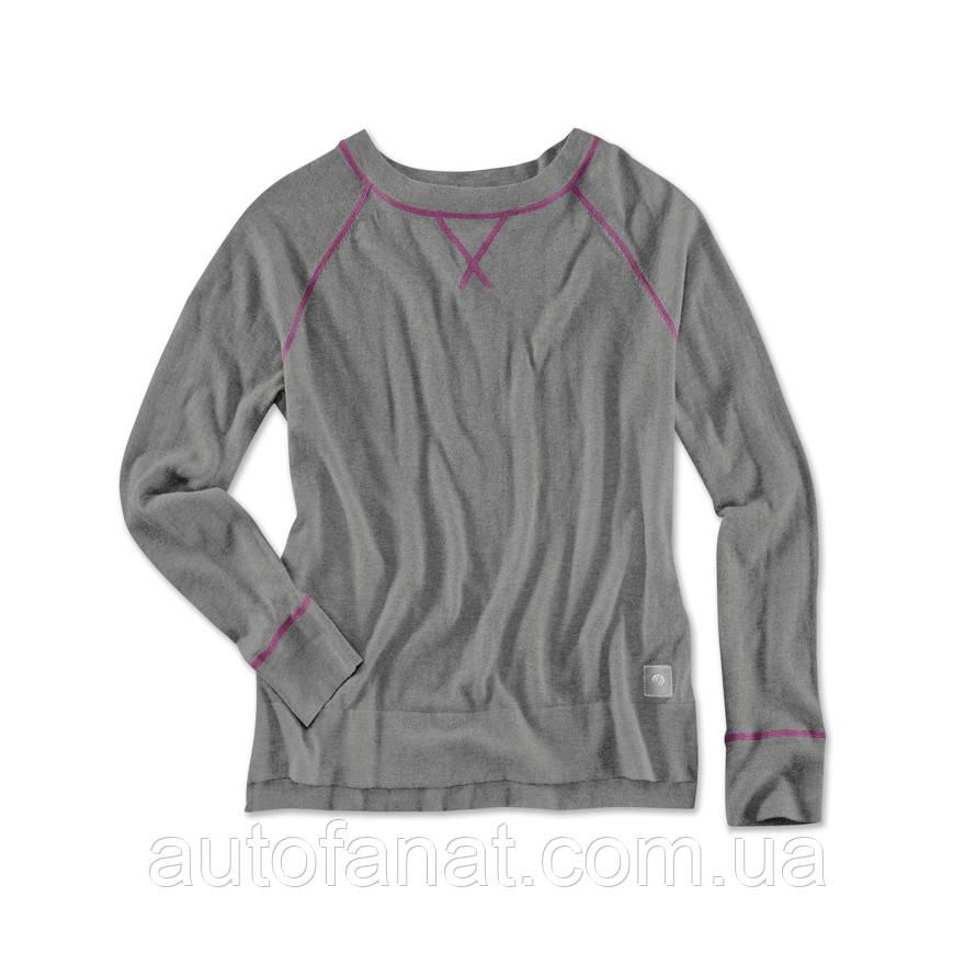 Оригинальный женский вязаный джемпер BMW Knit Sweater, Ladies, Asphalt Grey Melange (80142411052)