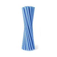 Трубочки фреш для коктейля синие (25шт/уп)