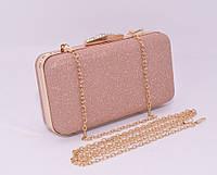 Вечерний клатч Rose Heart 09829 розовый, сумочка на цепочке , фото 1