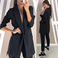Женский модный пиджак в полоску (2 цвета), фото 1