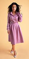 Стильная женская рубашка лилового цвета