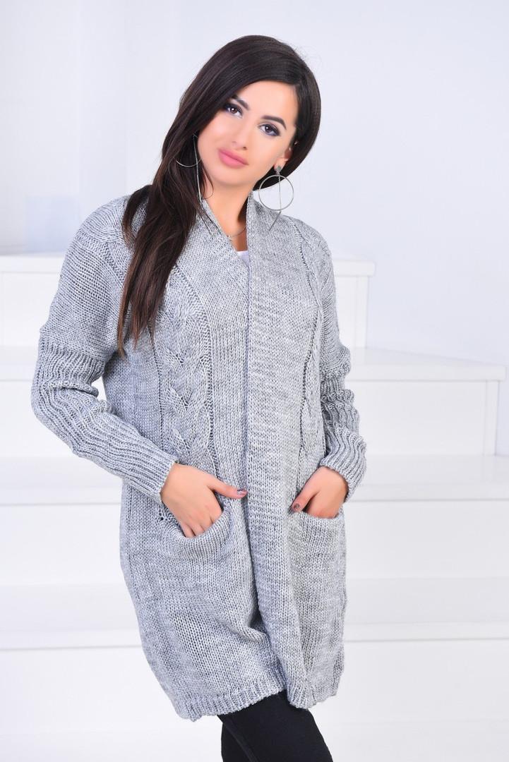 Женский кардиган с косичками пр-во Турции мод.3201