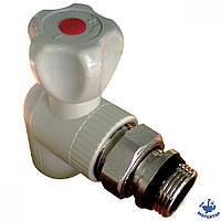 Кран радиаторный угловой ПП 20-1/2 наружи + антипротечка KOER