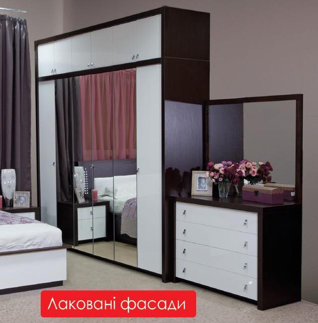 Шкаф 6-дверный Оливье в интерьере спальной комнаты