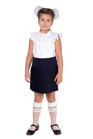 Школьная синяя плиссированная юбка 5011-1, фото 2