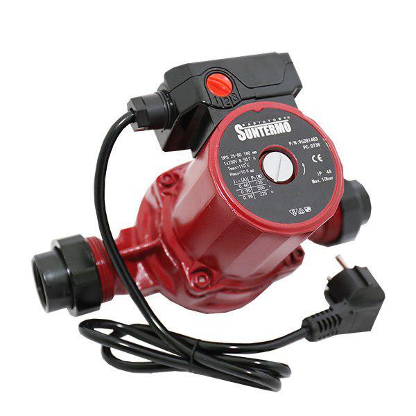 Циркуляционный насос для отопления SUNTERMO 25-60-180 мм + гайки + кабель с вилкой