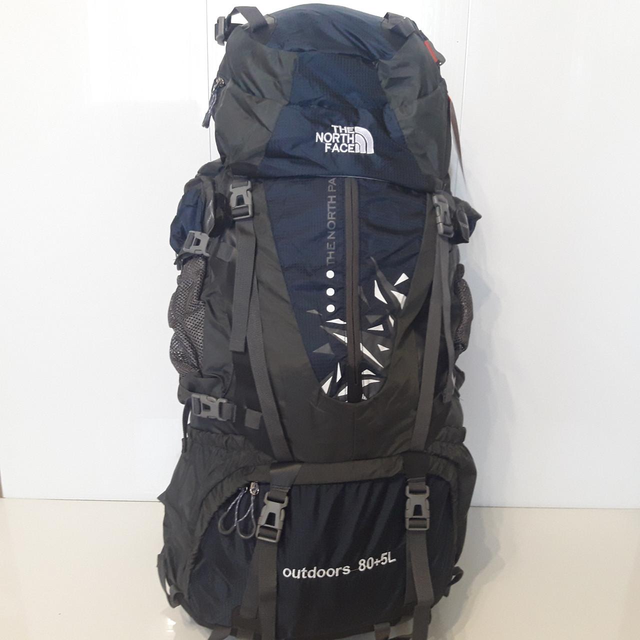 Большой туристический рюкзак 85 литров The North face синий